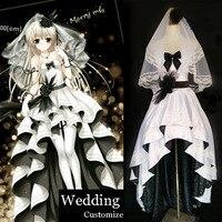 Аниме starchild Касугано Сора белый свадебное платье + фата + Прихватки для мангала + Носки для девочек Фанарт карнавальный костюм полный комплек