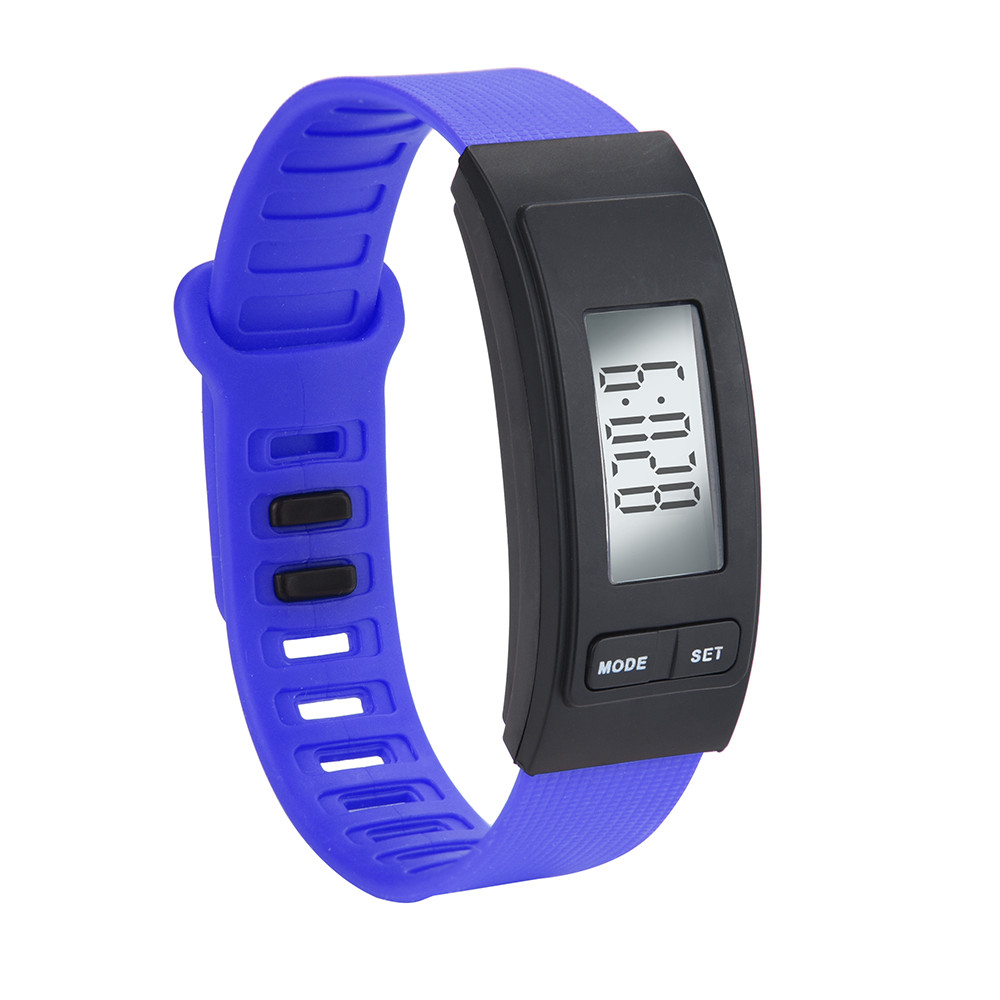 Digital Watch Men Run Step Watch Bracelet Pedometer Calorie Counter Digital LCD Walking Distance 0619