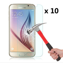 10Pcs/Set 9H Hardness Tempered Glass Display Protector for Samsung Galaxy S7 G930 G9300 Protecting Movie