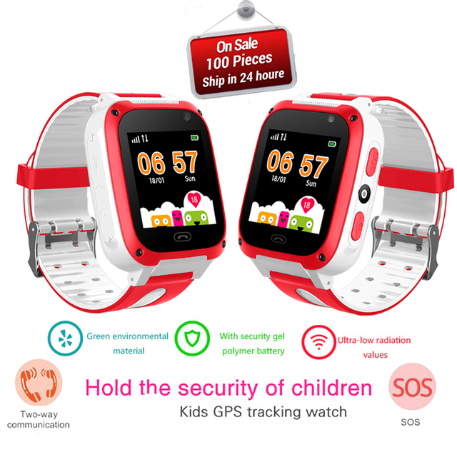 LIGE Child Smart watch LBS Kid SmartWatches Baby Watch for Children SOS Call Location Finder Locator Tracker Anti Lost Monitor