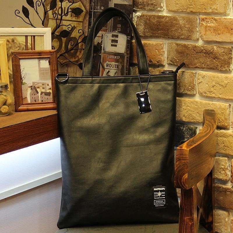 Hot sale fashion black pu leather handbags for men, document briefcase, business briefcase laptop, men's casual shoulder bag