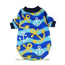 Fitwarm якорь домашних собак рубашки для мальчиков Одежда для домашних питомцев; кошки футболки пуловер темно-синий и голубой цвет, XS маленький средних и больших размеров, для чихуахуа бишон