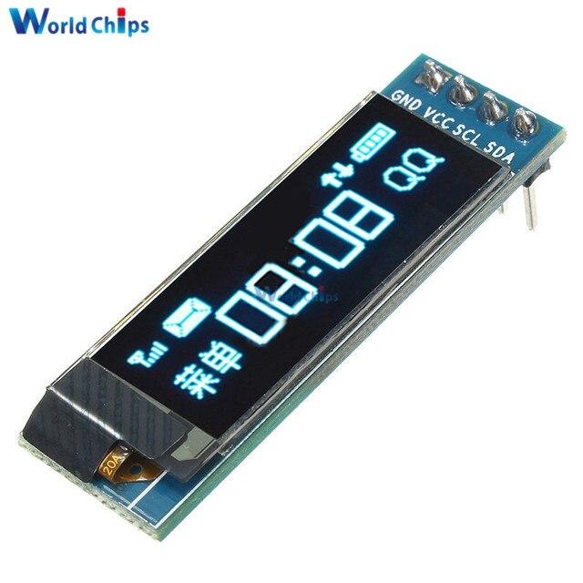 """0.91 インチ DC 3.3 V 5 V 128 × 32 IIC I2C 青色 Oled 液晶ディスプレイモジュール 0.91 """"12832 SSD1306 液晶画面 IC モジュール Arduino の Pic"""