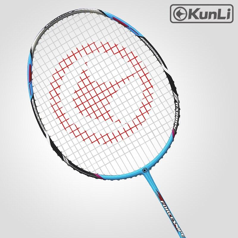 Kunli Badminton RacketS 5U 79g Full Carbon Ultra Light Attack Racket - მაგიდის ჩოგბურთი, ჩოგბურთი, ბადმინტონი