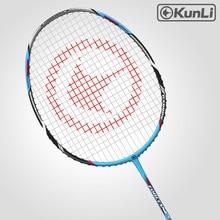 Kunli Badminton Schläger 5U 79g Voll Carbon Ultra Licht Angriff FORCE79 Blau Professionelle Feder