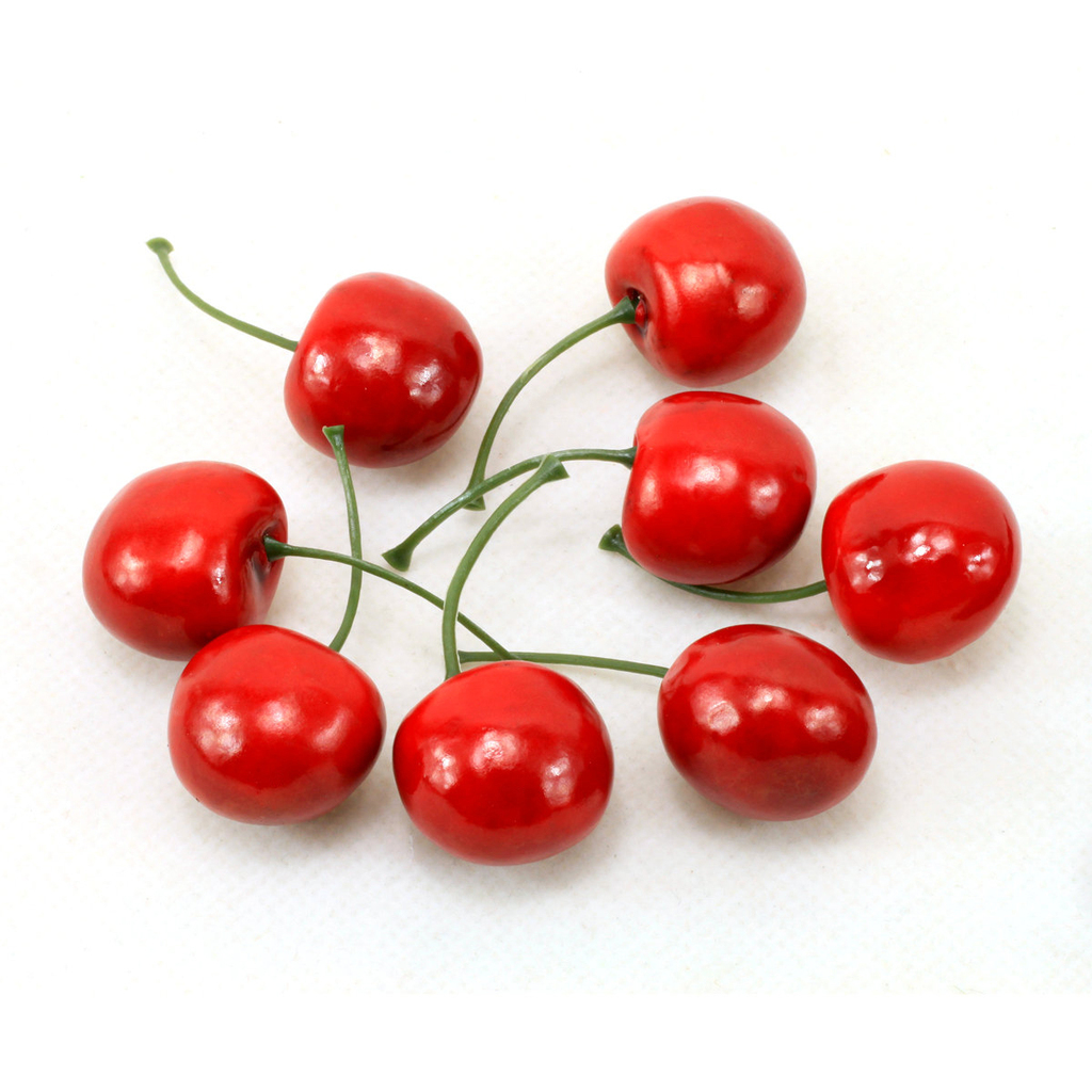 Hot artificial fruit cherry fake fruit cherry maroon for Artificial pears decoration