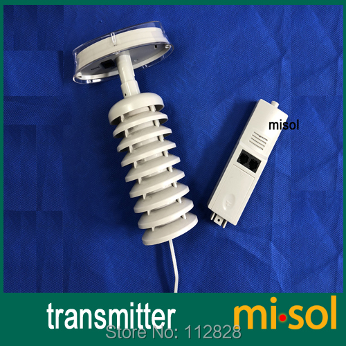 Spare part for weather station (Transmitter / thermo hygro sensor) 433Mhz, with solar panel