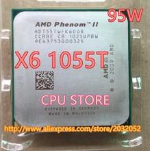 AMD Phenom II X6 1055 T 95 W CPU processeur 2.8 GHz AM3 938 Processeur Six-Core 6 M bureau CPU (de travail 100% Livraison Gratuite)