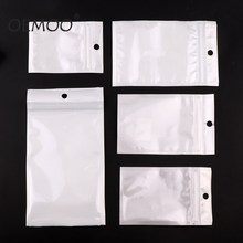 White Clear Self Seal Zipper Plastic Retail Packaging Poly Pouches Ziplock Zip Lock Bags Package With Hang Hole