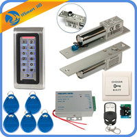 Full Complete Metal Shell Stand Alone EMID RFID Keypad Stand alone Waterproof IP68 Access Control Unit Kit & Electric Bolt Lock