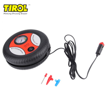Cars MiniTIROL Inflatable Pump Electric Tyre Pressure Monitor Compressor PortablePSI 12V Air Pumping Tire  Bike Motor Ball