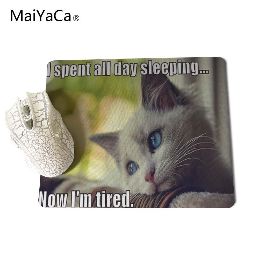 MaiYaCa Animales divertidos Gatos Nuevo tamaño Alfombrilla para - Periféricos de la computadora - foto 5