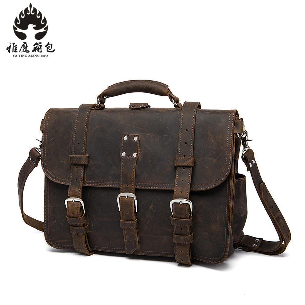 Men Messenger Bags Male Genuine Leather Men Bag Briefcase Men's Shoulder Leather Laptop Bag Crossbody Bags Handbags Tote top power men bag fashion genuine leather men crossbody shoulder handbags men s briefcase men bags double bag messenger bag male