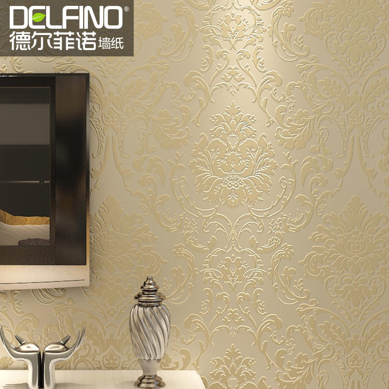 Compare prices on damask bedroom online shopping buy low for Living room wallpaper feature wall
