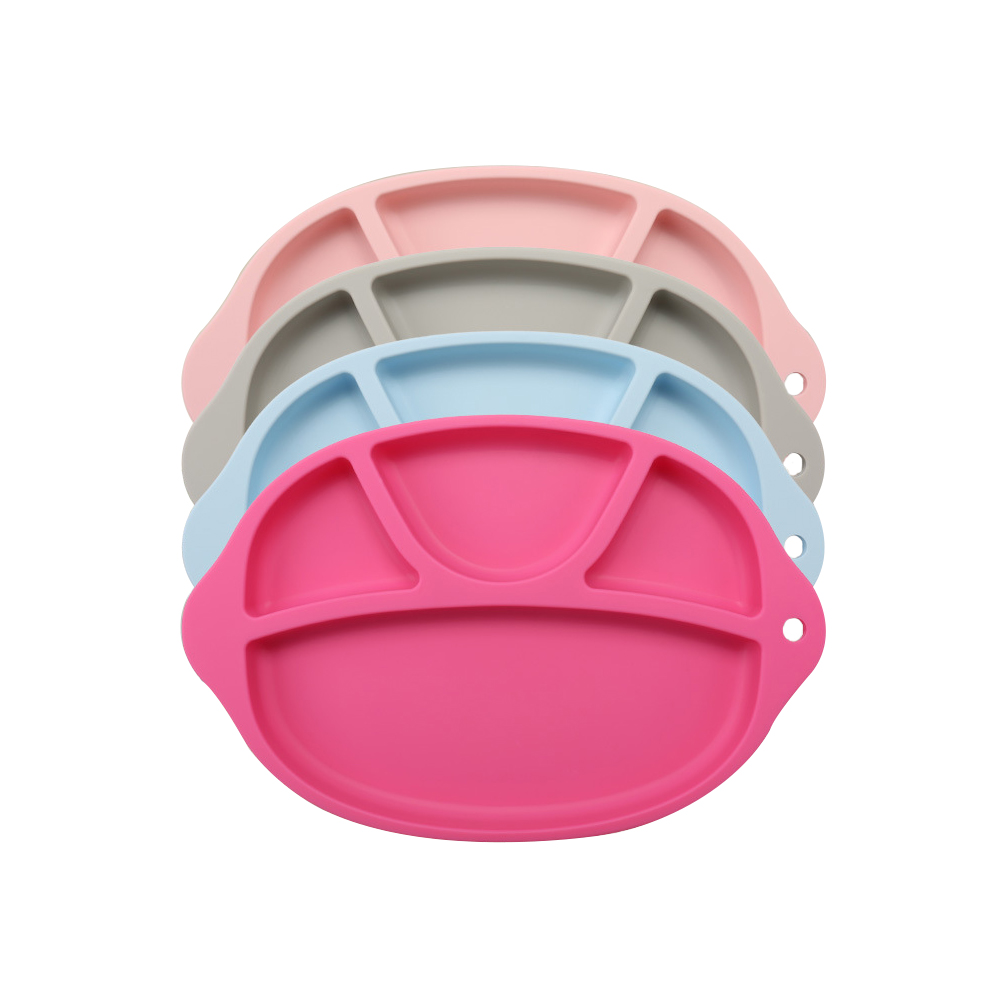 Купить с кэшбэком Children dish New food-grade silicone Baby Infant Cute Feeding Plate Fruit Dishes Kids Child plate Tableware