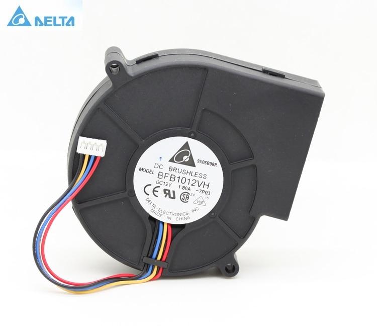 Original Delta BFB1012VH 9733 turbo ventilador centrífugo soplador 12 V 1.80A capacidad eólica 97*97*33mm