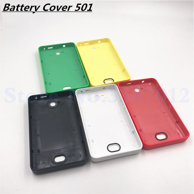 newest 78177 c085c US $3.59 5% OFF|Vecmnoday Genuine Battery Cover For Nokia Asha 501 Housing  Battery Back Door Cover Case + Side Button-in Mobile Phone Housings from ...
