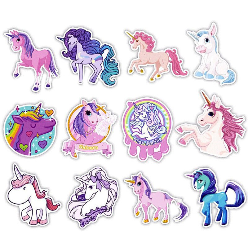 30 Pcs Eenhoorn Serie Sticker Leuke Anime Droom Kinderen Cartoon Stickers Voor Diy Travel Case Laptop Fiets Koelkast Auto Stickers Geselecteerd Materiaal