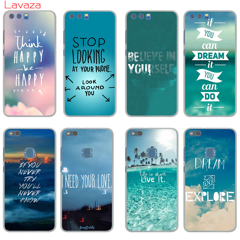 Lavaza New Think Happy be Happy Designs Hard Case for Huawei nova Lite 2 2s 2plus 2i Mate 9 9pro P20 pro lite P smart Cover ...