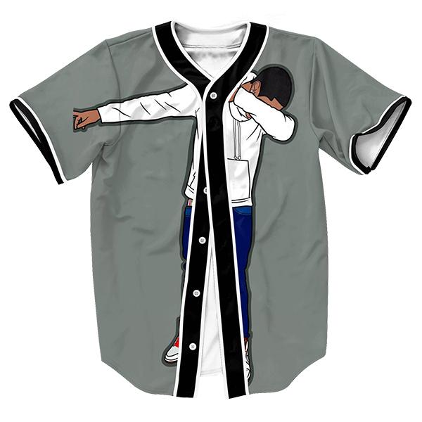 Moda Jersey con Estilo botones de Verano Ropa de Los Hombres de Hip Hop de impresión 3d Streetwear tops sobrecamisa camisa del béisbol