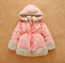 Of high quality baby girls winter coats jackets girls kids 2016 Parka down thick hot outdoor Casual Kids jackets clothing