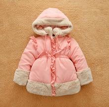 Высокое качество новорожденных девочек зимние пальто куртки девушки дети 2016 Парка вниз толщиной горячая открытый Повседневная Дети куртки одежда