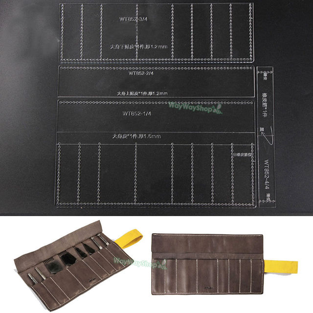 roll storage bags acrylic templates punch leather pattern 852 model