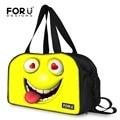 Marca 3D Emoji Divertido Cara de La Sonrisa Imprimir hombres Mujeres Viajan Bolsas de Lona Bolsa de Viaje de Múltiples funciones de Gran Capacidad Bolsa de viaje Bolsas