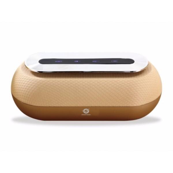 Conceptronic Speaker Bluetooth Dunkan Gold Color Reproduced Mp3 From USB/microSD Radio FM Handsfree 10 W