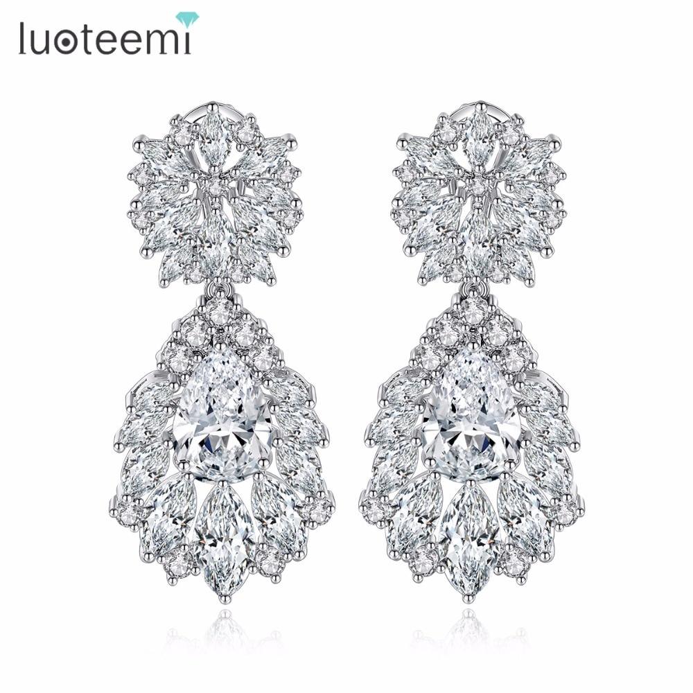 Luoteemi Grosir 2016 Perempuan Anting Mode Mulia Pernikahan Jewelry - Perhiasan fashion - Foto 1