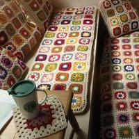 Multi Size Handmade Sofa Mat Seat Cushion for Chair Outdoor Tea Ceremony Hand Hooked Decoration Crochet Blanket Felt