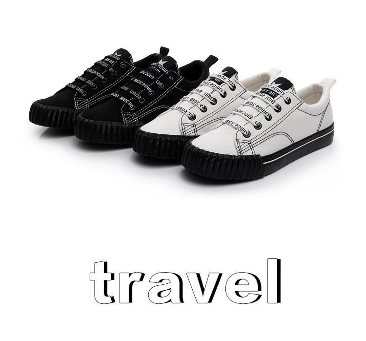 Spring Korean versatile canvas shoes female 2018 new students Harajuku cloth shoes casual black Hong Kong wind board shoes 28