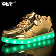 ขนาด 25 37 เด็กเรืองแสงรองเท้าผ้าใบไฟ Led รองเท้าเด็กรองเท้าสำหรับชายหญิงรองเท้าผ้าใบส่องสว่าง sole
