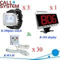 Enfermería del hogar Digital de botón para servicio 1 monitor de 3 relojes inteligentes 30 sala de campanas envío libre