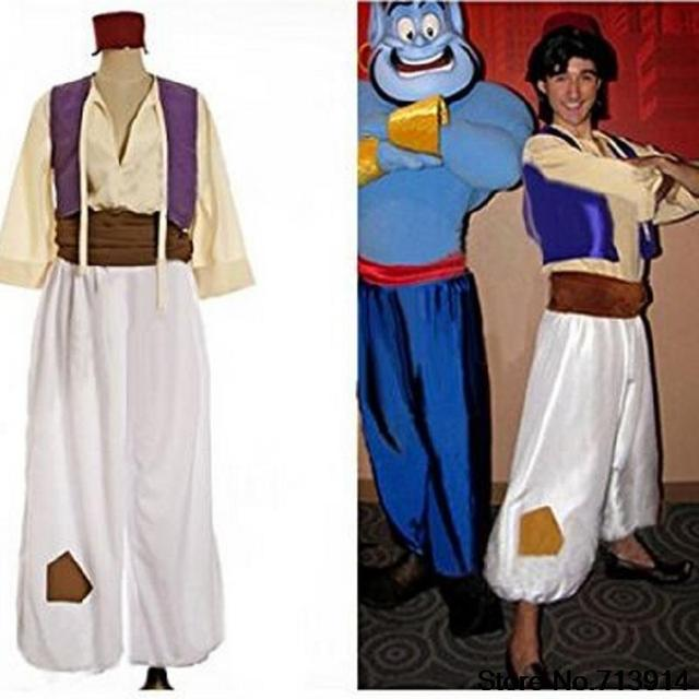 Jazmín y Aladdin trajes para adultos Aladdin adultos Genie traje ...