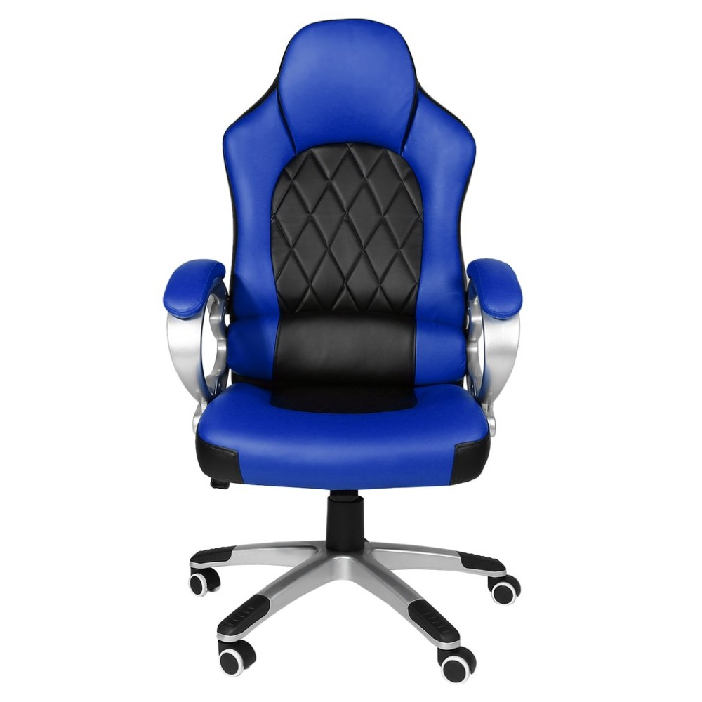 Modern Office Chair 360 Degree Rotation High Back Adjustable Height Racing Chair with Ar ...