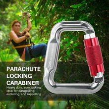 Lixada 18KN Master Hook  Aluminum Alloy Carabiner Outdoor Rock Climbing Equipment Paragliding Paraglider Parachute Clip Locking