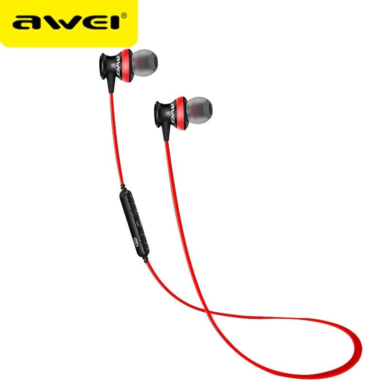Awei A980BL Bluetooth Earphone Wireless Earphone Untuk iPhone Xiaomi Sport Headset Dengan Mic Stereo Auriculares fone de ouvido