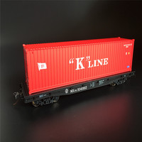 architecture model ho scale Flat with container HO type 1:87 40foot for ho train layout