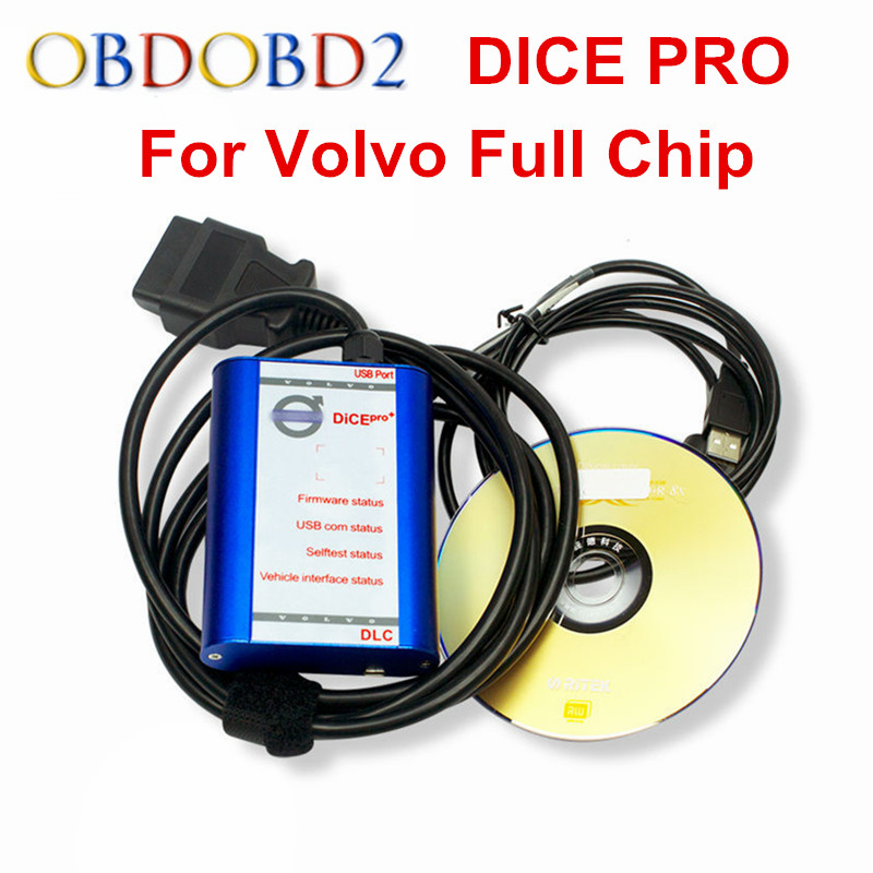 Newest For Volvo VIDA DICE PRO+ Full Chip 2014D Fimware Update&Self-Test For Volvo Scanner with MultiLanguage Vida Dice Green single green board multidiag pro 2014 r2 keygen