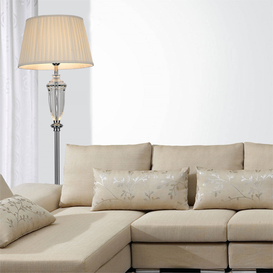 170cm modern minimalist white iron crystal floor lamp