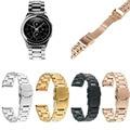 Color de alta calidad de reemplazo de acero inoxidable reloj correa de la banda para samsung galaxy gear s2 classic sm-r732 cinturón pulsera
