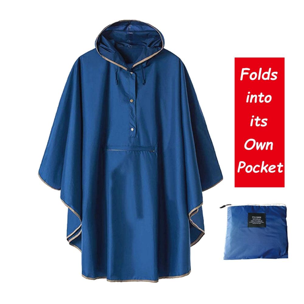 1PC good quality waterproof emergency rain coat women windbreaker hooded men rain capes ponchosRaincoats   -