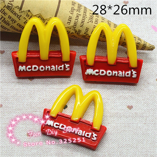 Mcdonald Wholesale Home: Wholesale 50pcs Cartoon Mcdonald's Logo Flatback Resin