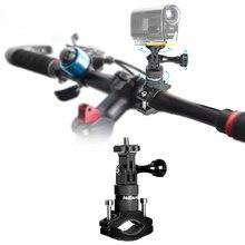 Alüminyum alaşımlı bisiklet bisiklet gidon döner stand braketi kelepçe Sony FDR X3000 AS300 AS50R AS50 eylem kamera yatağı tutucu