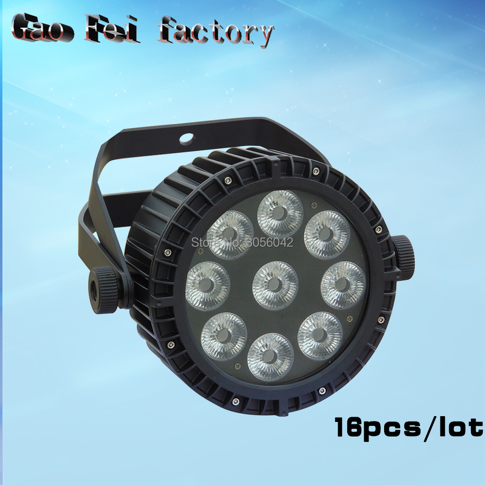 16pcs/lot Outdoor Wash Light LED Par Light 9x18W RGBWA UV Waterproof LED For Party wedding stage
