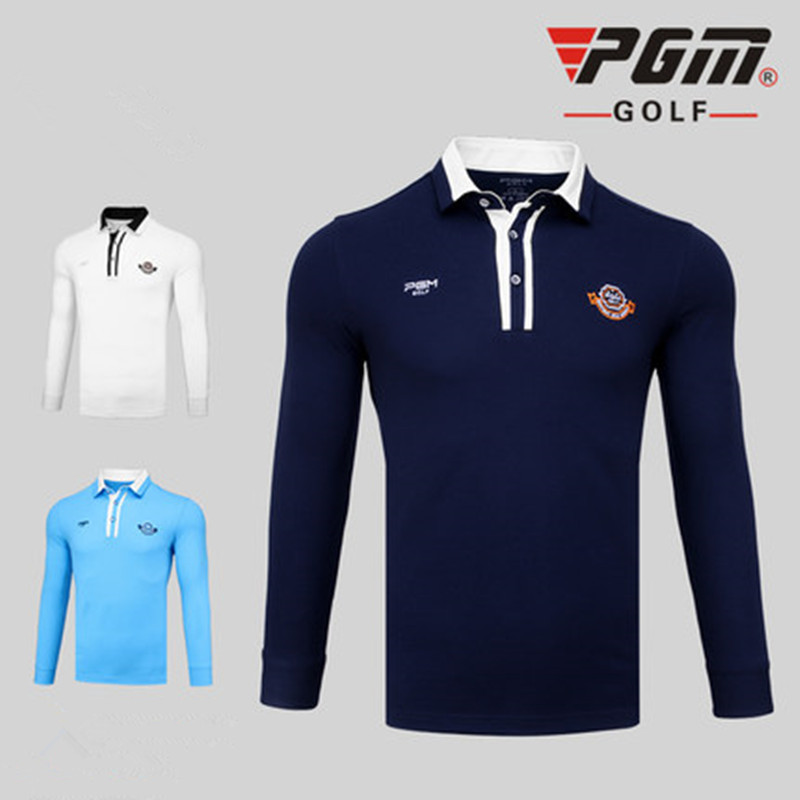 PGM new autumn golf apparel mens T-shirt competition with the same ball game with the same sports function fabric wind warm