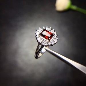 Image 3 - Natuurlijk granaat Ring 925 Zilveren Saffier Blauwe Saffier nieuwe product bijgewerkt elke dag om focus op winkeliers.