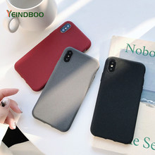 New Fashion Frosted Silicone Phone Case For iPhone X 6 6S Plus Gray Black Red TPU Soft Back Cover Cases For iPhone 7 8 Plus Xs(China)