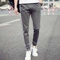 Мужские Бегунов 2016 Мужские Брюки Мужские Брюки Mallas Hombre Шнуровкой Штаны Jogger 5XL